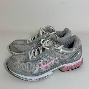 Nike Girls Gray And Pink Sneakers Size 5Y